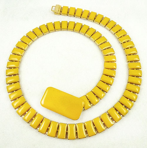 Belts & Buckles - Yellow Enamel Segments Belt