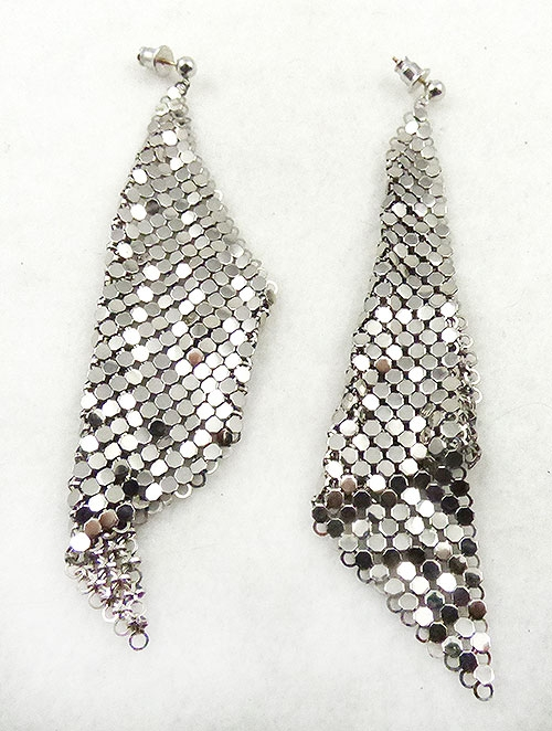 Colors for Fall-Winter 2018-2019 - Whiting & Davis Silver Mesh Earrings