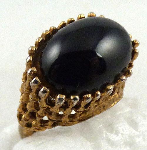 Rings - Brutalist Black Glass Ring
