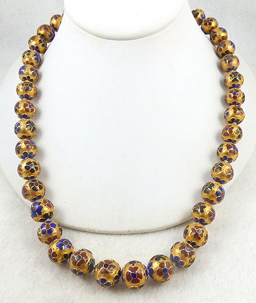 China - Chinese Gold Cloisonné Beads Necklace