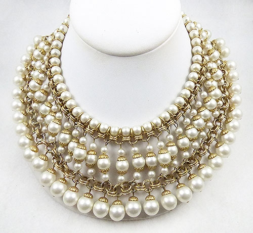 Newly Added Vendome Drippy Pearl Bib Necklace