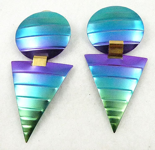 Newly Added Rainbow Ombre Aluminum Earrings