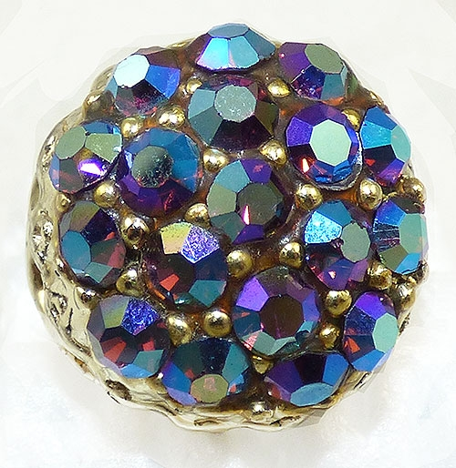 Rings - Amethyst Aurora Rhinestone Costume Ring