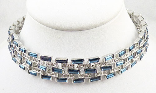 Lane, Kenneth J. - CZ by Kenneth J. Lane Sapphire Necklace