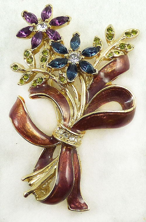 Monet - Monet Floral Bouquet Brooch