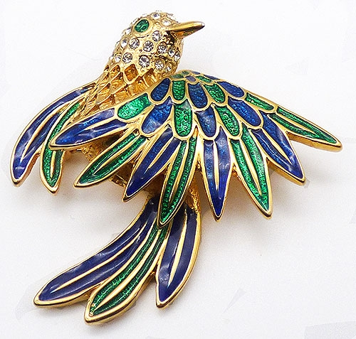 Newly Added Lindenwold Enameled Bird Brooch