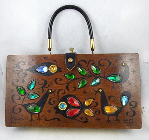 Purses - Enid Collins Fauna Wooden Box Bag