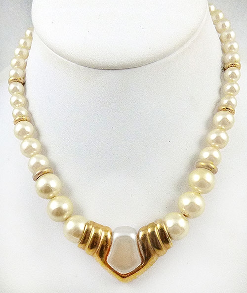 Newly Added Napier Simulated Pearl Necklace