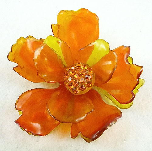 Florals - Cellulose Acetate Flower Brooch