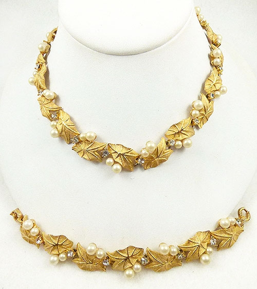 Newly Added Pennino Gold Leaves Demi-Parure