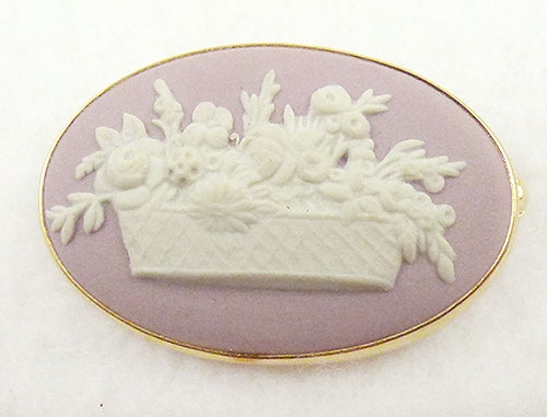 Newly Added Wedgwood Lilac Jasparware Flower Basket Brooch