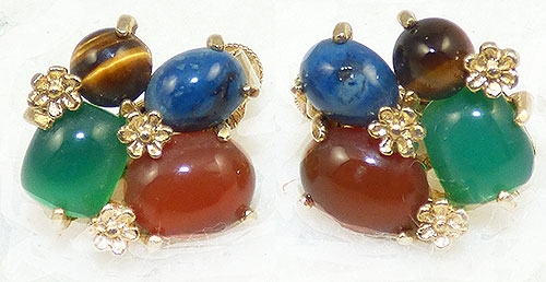 Semi-Precious Gems - Vendome Gemstone Cabochon Earrings