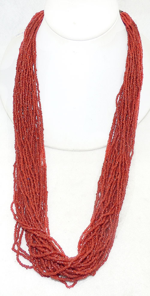 Newly Added Coral Seed Bead Boho Necklace