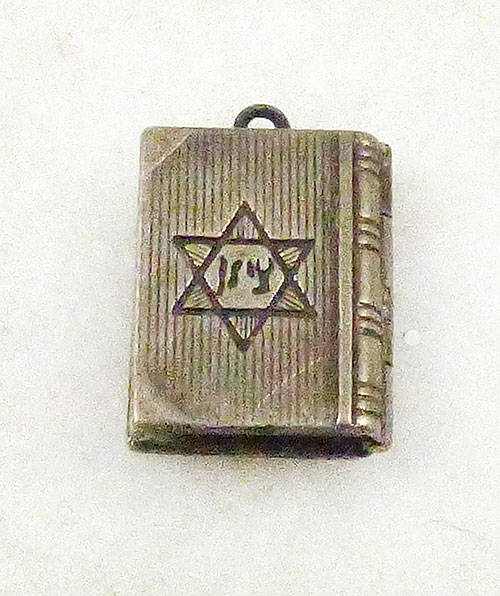 Jewish Jewelry - Silver Jewish Siddur (Prayer Book) Locket