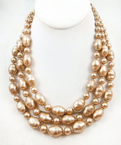 Rivers, Joan - Joan Rivers Triple Pearl Necklace