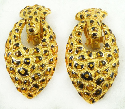 Newly Added Gemcraft Gold Leopard Earrings
