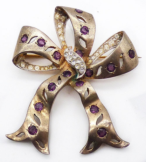 Bows & Ribbons - Reja Sterling Vermeil Bow Brooch