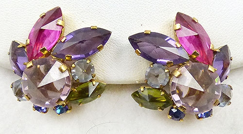 Austria - Austrian Inverted Rhinestone Earrings