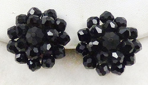 Newly Added Laguna Black Crystal Bead Earrings