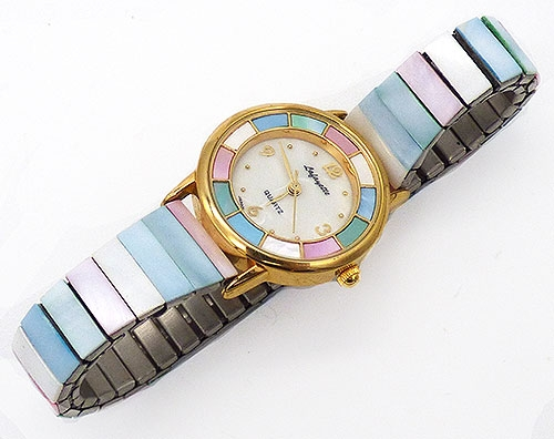 Newly Added Vintage Lafayette Mother-of-Pearl Wrist Watch