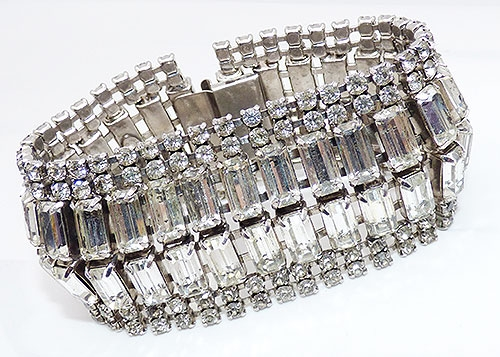 Newly Added Kramer Wide Rhinestone Baguette Bracelet