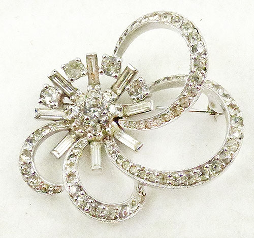 Newly Added Jomaz Rhinestone Ribbon Brooch