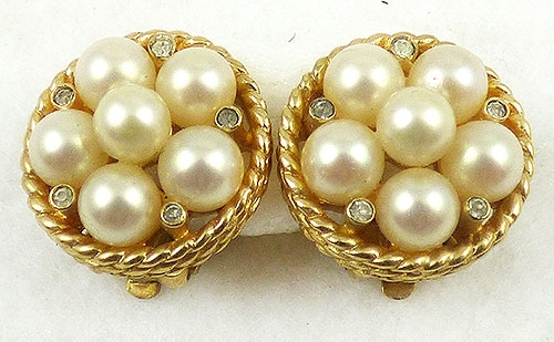 Newly Added Jomaz Pearl Cluster Earrings
