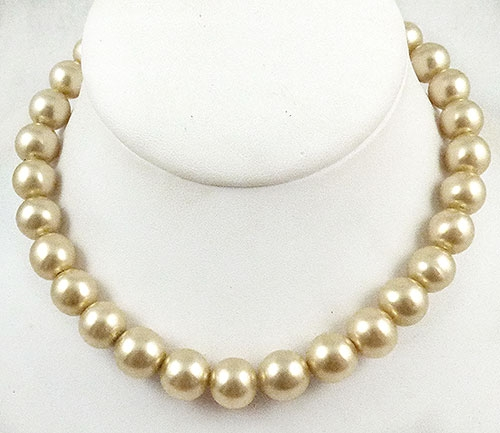 Newly Added Glass Simulated Pearl Necklace