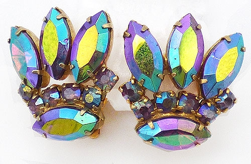 Newly Added Dark Vitraill Aurora Rhinestone Earrings