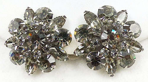 Newly Added Black Diamond Rhinestone Earrings