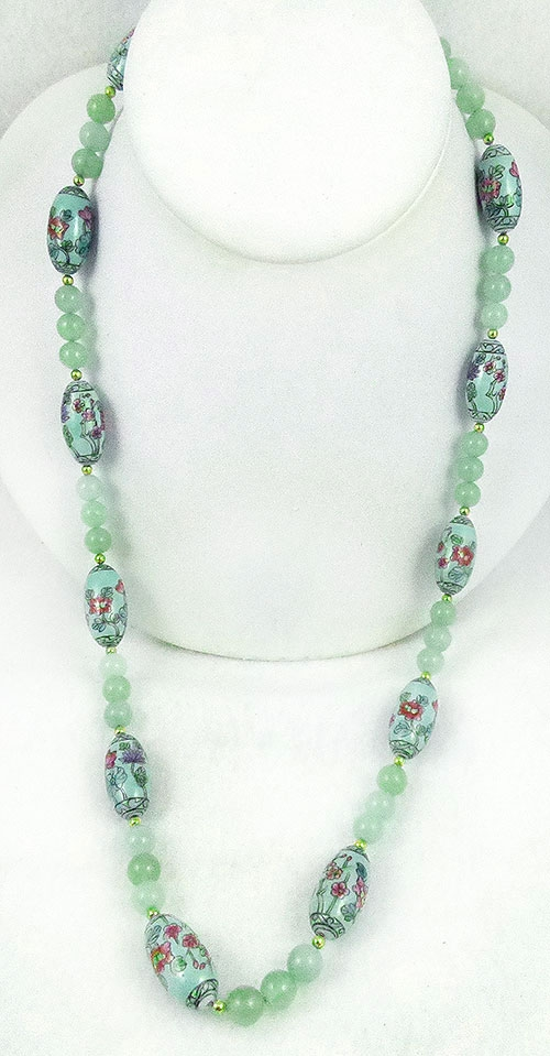 Colors for Spring Summer 2019 - Chinese Aqua Porcelain Bead Necklace