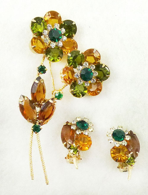 Florals - DeLizza and Elster Flower Brooch Set