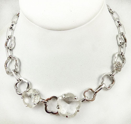 Newly Added Swarovski Crystal Flower Link Necklace