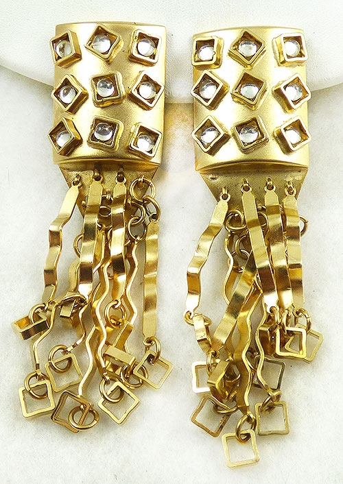 Newly Added Sorrelli Gold Crimped Dangles Earrings