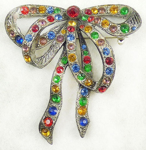 Newly Added Little Nemo Rhinestone Bow Brooch