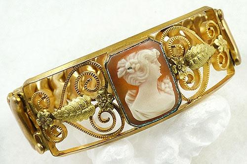 Bracelets - Krementz Diana Cameo Expansion Bracelet