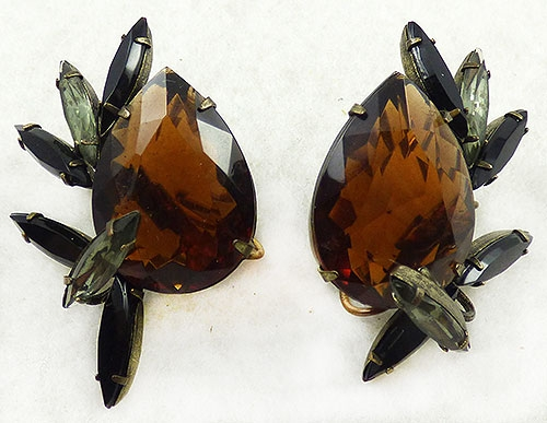 Autumn Fall Colors Jewelry - Judith McCann Topaz Teardrop Wingback Earrings