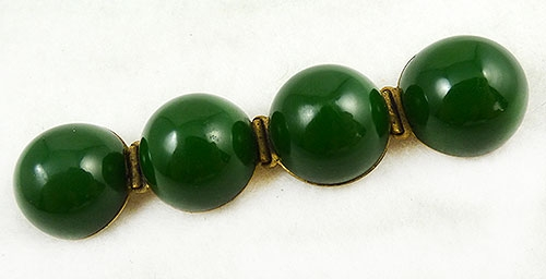 Newly Added Green Bakelite Spheres Brooch