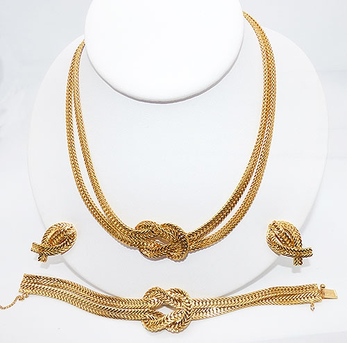 Newly Added Hobé Gold Tone Knot Parure