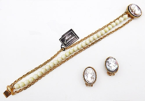 Newly Added Alice Caviness Mother-of-Pearl Cameo Bracelet Set