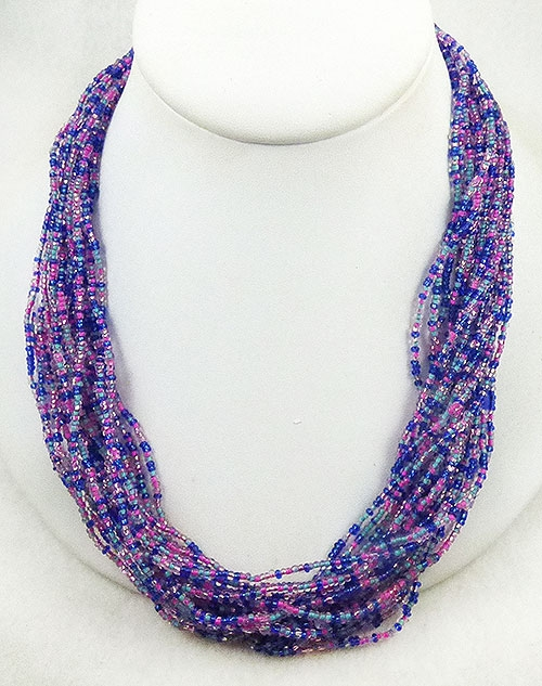 Newly Added Alice Caviness Seed Bead Torsade Necklace