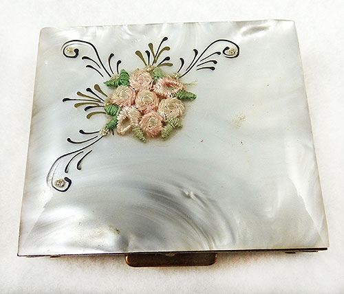 Compacts & Vanity Items - Mother-of-Pearl Resin Compact Sewing Kit