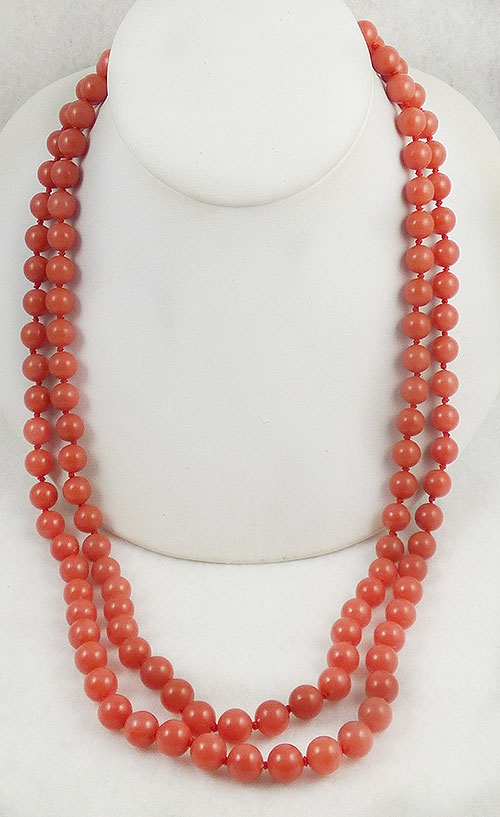 Newly Added Alice Caviness Orange Bead Double Necklace