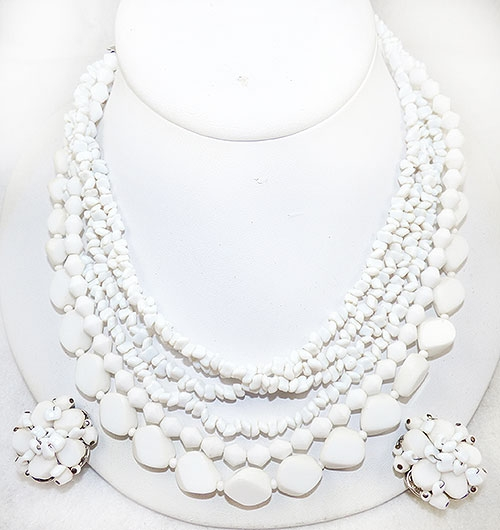 Newly Added Alice Caviness White Bead Necklace Set