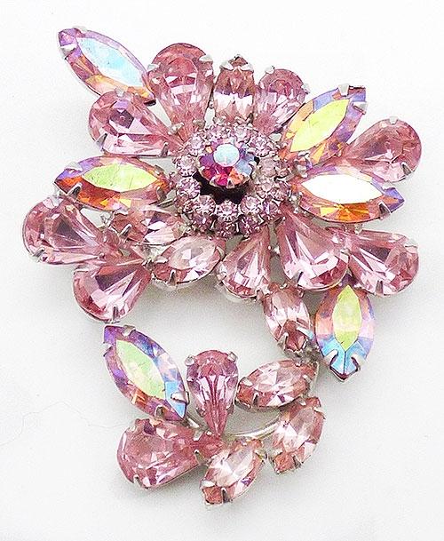 Weiss - Weiss Light Pink Rhinestone Brooch
