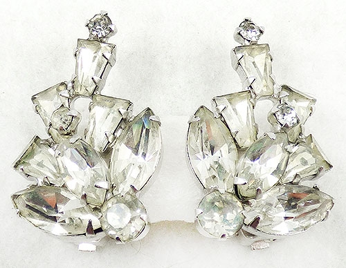 Newly Added Weiss Rhinestone Tapered Baguette Earrings