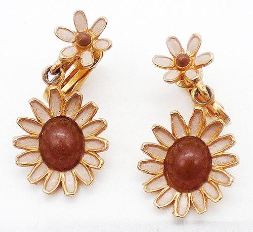 Earrings - Weiss Dangling Daisy Earrings