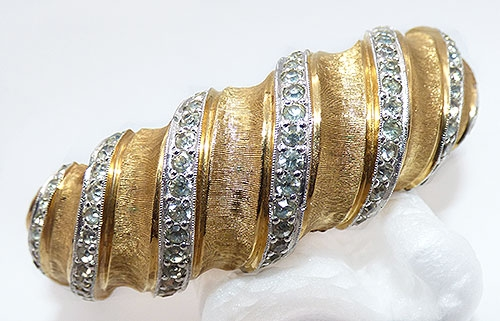 Bridal, Wedding, Special Occasion - Joseph Mazer Gold and Rhinestone Bracelet