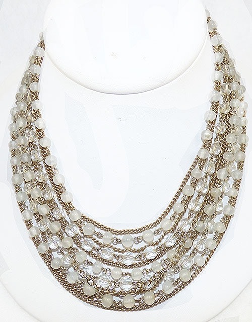 Crystal Bead Jewelry - Kramer Glass and Crystal Bead Necklace