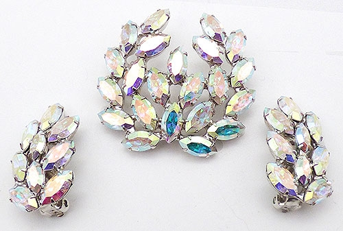 Newly Added B. David Aurora Rhinestone Brooch Set